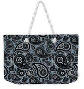 Slate Gray Paisley Design Weekender Tote Bag
