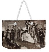 Slave Auction In Virginia Weekender Tote Bag by Photo Researchers