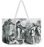 Slave Auction Weekender Tote Bag by Photo Researchers