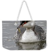 Slavonian Grebe With Fish Weekender Tote Bag