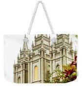 Slc Temple Angle Weekender Tote Bag by La Rae  Roberts