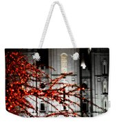 Slc Temple Red White N Black Weekender Tote Bag by La Rae  Roberts