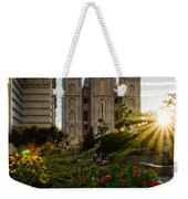 Slc Temple Sunburst Weekender Tote Bag