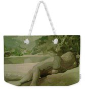 Sleep Behind The River Weekender Tote Bag
