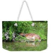 Sleep Fawn White Tailed Deer Weekender Tote Bag