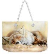 Sleeping Beauty -red Fox In Rest Weekender Tote Bag