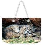 Sleeping Bobcat Weekender Tote Bag