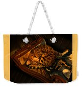 Sleeping Cat Digital Painting Weekender Tote Bag