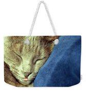 Sleeping Cat Weekender Tote Bag