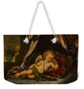 Sleeping Cupid Weekender Tote Bag