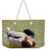 Sleeping Duck On Pond Weekender Tote Bag