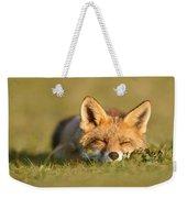 Sleeping Fox Kit Weekender Tote Bag