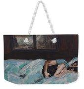 Sleeping In Weekender Tote Bag by Leslie Allen