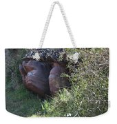 Sleeping In The Jungle - Stone Face In Forest Weekender Tote Bag