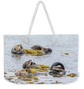 Sleeping Otters Weekender Tote Bag