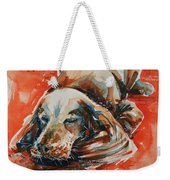 Sleeping Spaniel On The Red Carpet Weekender Tote Bag