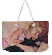 Sleeping With Fur Weekender Tote Bag