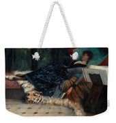 Sleeping Woman With A Book Weekender Tote Bag