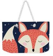 Sleepy Fox Weekender Tote Bag