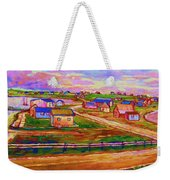 Sleepy Little Village Weekender Tote Bag