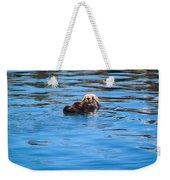 Sleepy Otter Weekender Tote Bag