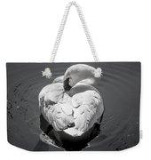 Sleepy Swan Weekender Tote Bag