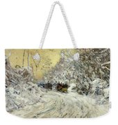 Sleigh Ride In Central Park Weekender Tote Bag by Childe Hassam