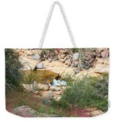 Slide Rock With Pink Wildflowers Weekender Tote Bag