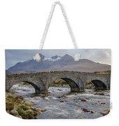 Sligachen Bridge And The Black Cullin, Isle Of Skye Weekender Tote Bag