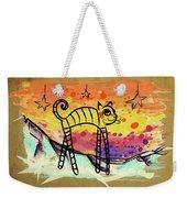 Slinky Cat Weekender Tote Bag