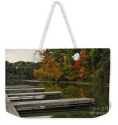 Slips In Autumn Weekender Tote Bag