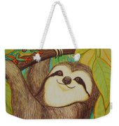 Sloth And Frog Weekender Tote Bag