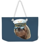 Sloth Aviator Glasses Captain Hat Sloths In Clothes Weekender Tote Bag