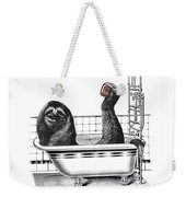 Sloth In Bathtub Taking A Shower Weekender Tote Bag