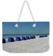 Slow Morging At The Beach Weekender Tote Bag