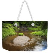 Slow River In Deep Forest Landscape Weekender Tote Bag