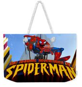 Spider Man Ride Sign.  Weekender Tote Bag