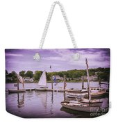 Small Boat Day Weekender Tote Bag