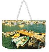 Small Boat Dock Catalina Island California Weekender Tote Bag