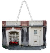 Small Door And Flower Box  Amsterdam Weekender Tote Bag