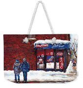 Small Format Paintings For Sale Poutine Lafleur Montreal Petits Formats A Vendre Cspandau Artist  Weekender Tote Bag