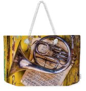 Small French Horn Weekender Tote Bag