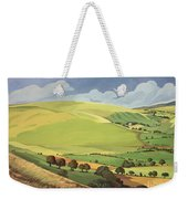 Small Green Valley Weekender Tote Bag
