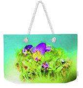 Small Group Of Violets Weekender Tote Bag