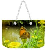 Small Heath Butterfly Weekender Tote Bag