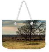 Small Herd In Winter Weekender Tote Bag