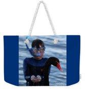 Small Human Meets Black Swan Weekender Tote Bag