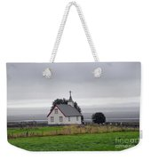 Small Icelandic Church With Gray Roof Weekender Tote Bag