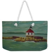 Small Island Lighthouse Weekender Tote Bag