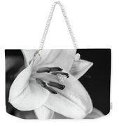 Small Lily-2 Bw Weekender Tote Bag